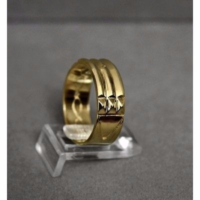exclusivo anillo atlante en acero inox 316  &  enchape  oro
