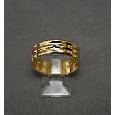 exclusivo anillo atlante en acero inox 316l enchapado oro