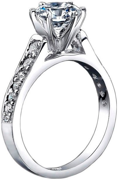 29b1d4e47dbb Exclusivo Anillo De Compromiso Diamante Cultivado Plata .925 ...