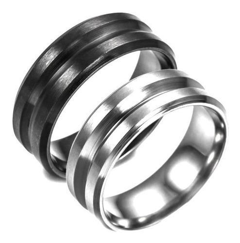 exclusivo anillo de titanio/ acero unisex opaco .