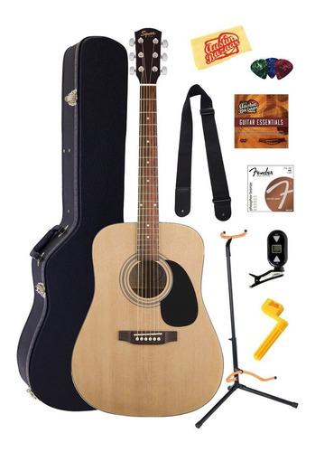 exclusivo combo de guitarra fender squier acoustic estuche