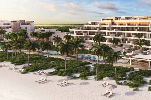 exclusivo condominio frente a la playa de telchac