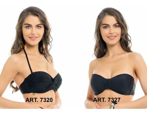 exclusivo corpiño strapless macramé bikini miró sol 7327
