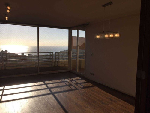 exclusivo departamento con vista al mar en reñaca