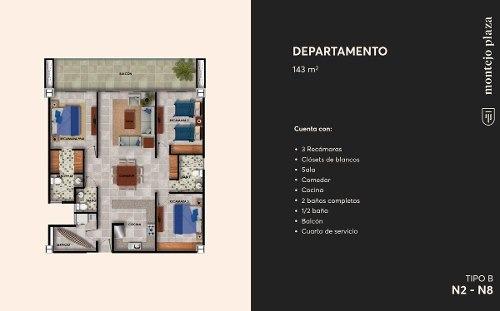 exclusivo departamento de lujo en montejo plaza mérida.