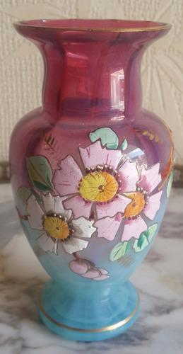 exclusivo florero de cristal checoslovaco