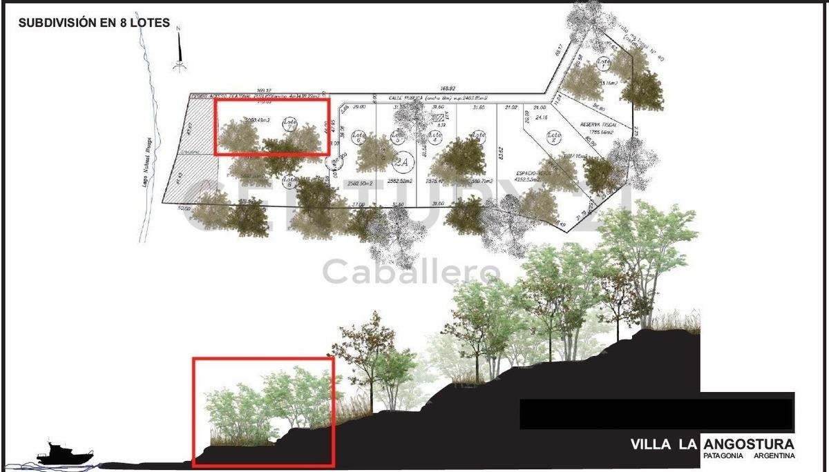exclusivo lote 5.050 m2  con costa  lago n.huapi, villa la angostura - l 7