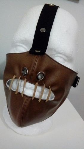 exclusivo máscara halloween manicomio hannibal terror bozal