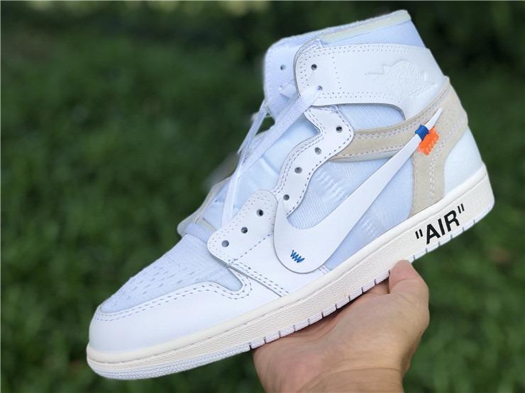 best sneakers 8340b ea783 Exclusivo! Nike Air Jordan 1 X Off-white / White - Unisex