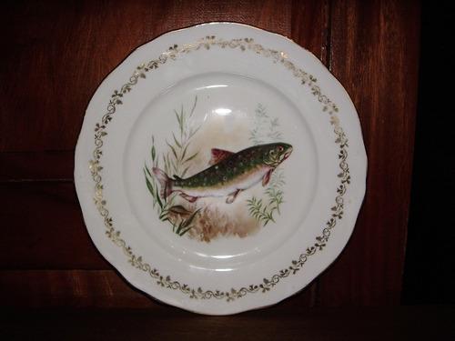 exclusivo plato de porcelana marca berry haute made france