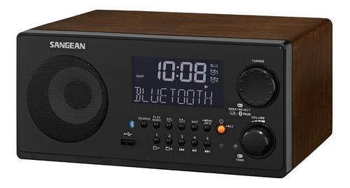 exclusivo radio reloj alarma bluetooth sangean wr-22