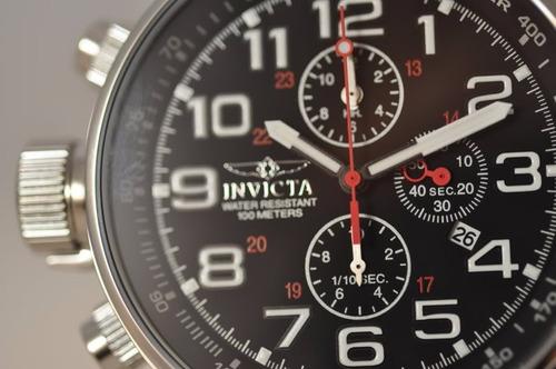 exclusivo reloj cronometro 1/10 invicta 2770 acero cuero