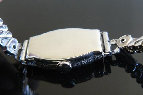 exclusivo reloj oro solido 14k waltham cuerda art deco 1920