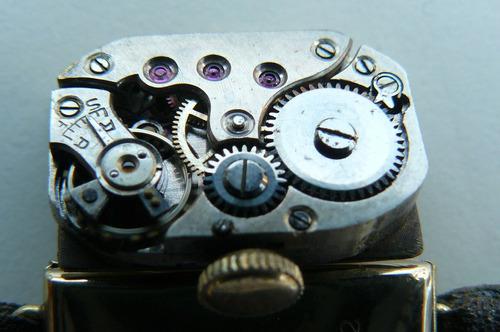 exclusivo reloj oro solido 18k cuerda art deco 1920 mujer