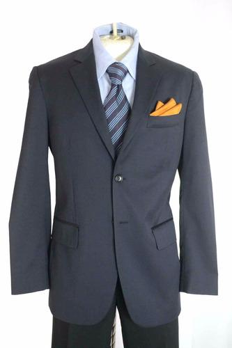 exclusivo saco blazer cerruti talla 38r color marino