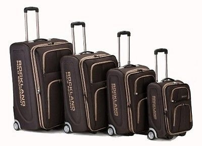 exclusivo set de 4 maletas minimalistas rockland varsity