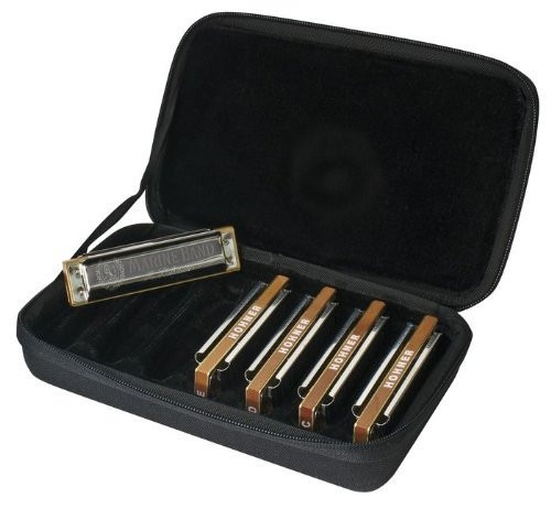 exclusivo set de armónicas hohner mbc case of marine