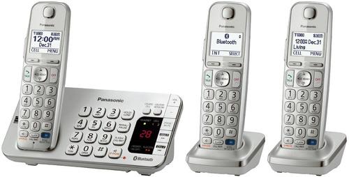 exclusivo teléfono digital 3 extensiones panasonic kxtge273s