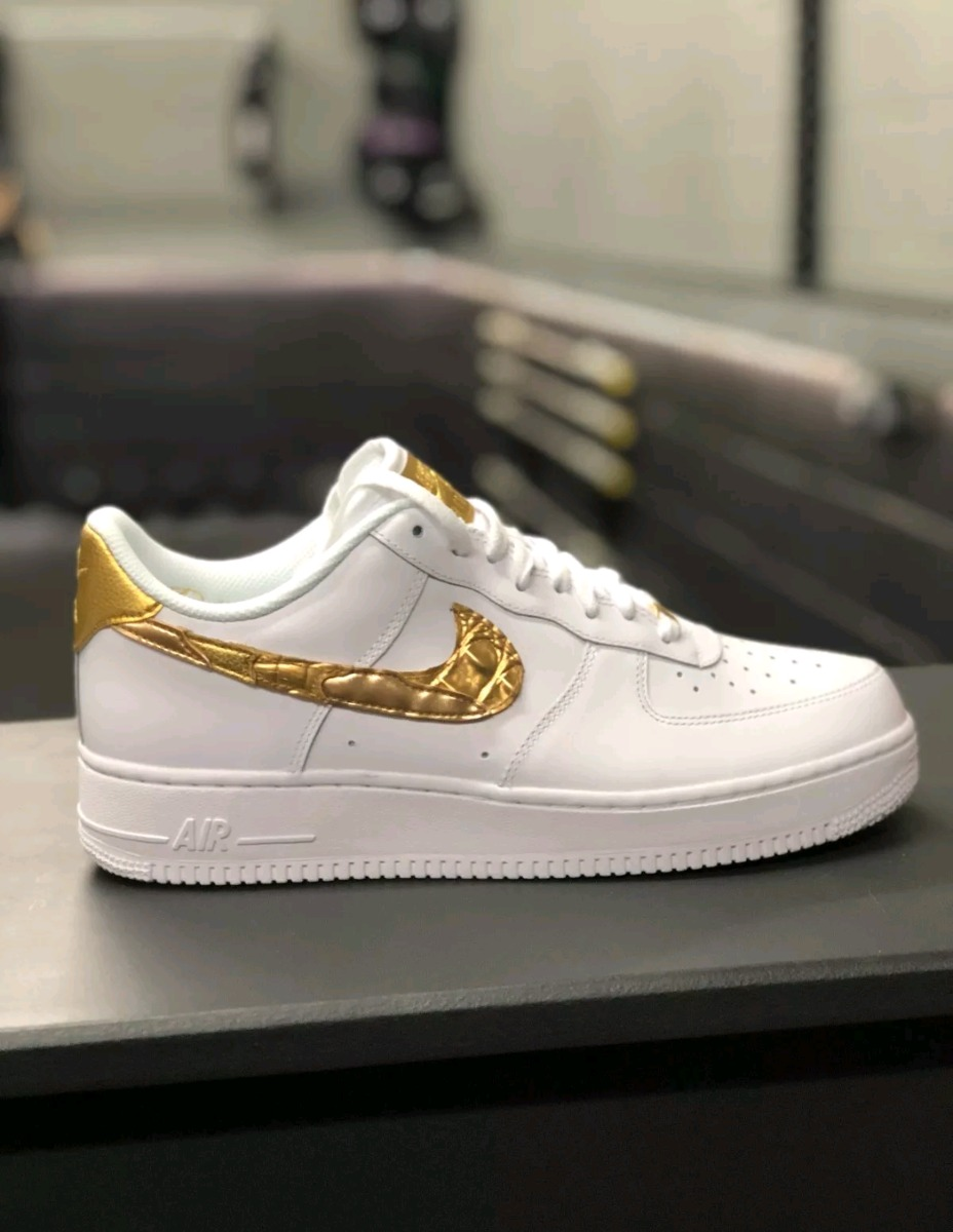 Exclusivo ! Tenis Nike Air Force 1 Cr7 Golden Patchwork - R  798 512b112f2