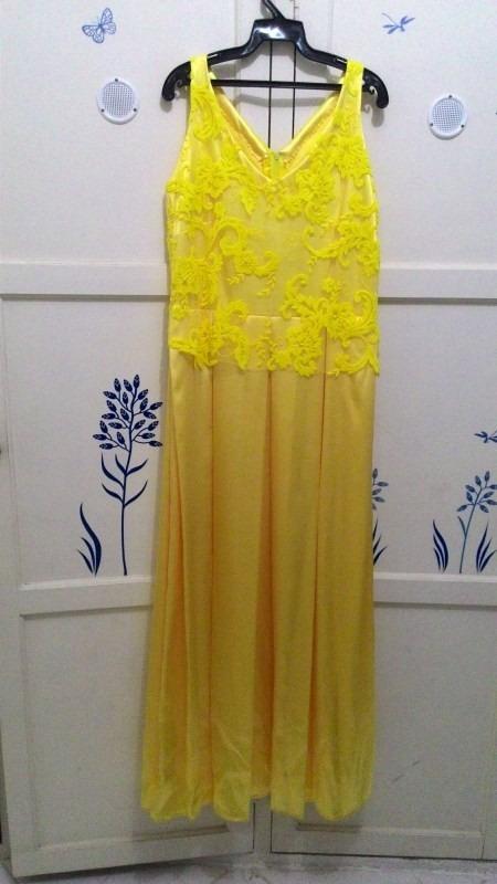 Exclusivo vestido amarelo longo de festa r 24900 em mercado livre exclusivo vestido amarelo longo de festa thecheapjerseys Choice Image