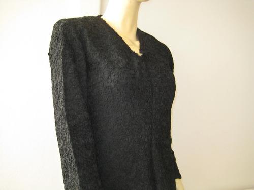 exclusivo vestido negro todo encintado, fiesta, talla s