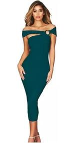 nueva llegada e4ada fa560 Exclusivo Y Hermoso Vestido Verde Esmeralda
