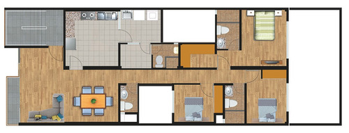 exclusivos dptos san miguel 122 m2 1dpto por piso