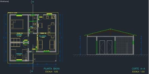 execução de projetos de autocad 2d