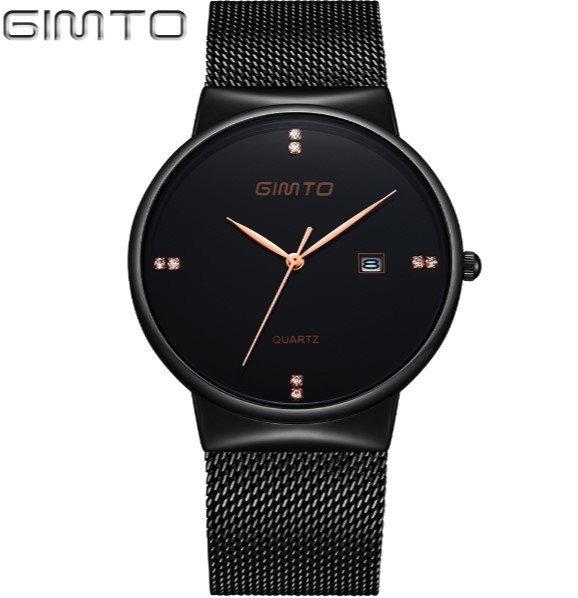 c919953c8ab Executivo! Relógio Masculino Gimto Aço Preto Quartzo Brinde - R  120 ...