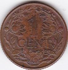 exelente estado! 1 cent 1944 d - curacao