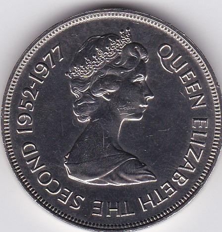 exelente estado! 25 pence 1977 - guernsey