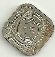 exelente estado! 5 cents 1943 - curacao