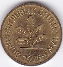 exelente estado! 5 pfennig 1975 - germany
