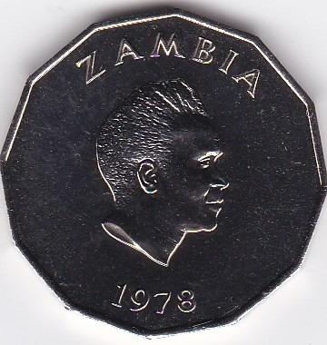 exelente estado! 50 ngwee 1978 - zambia - proof