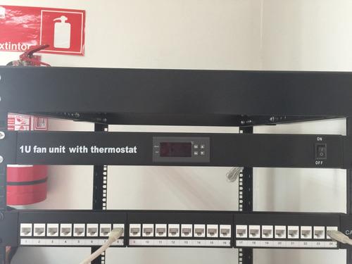 exelink thermostato digital para rack 4 ventiladores