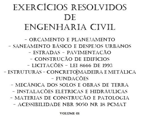 exercícios resolvidos de engenharia civil - concurso público