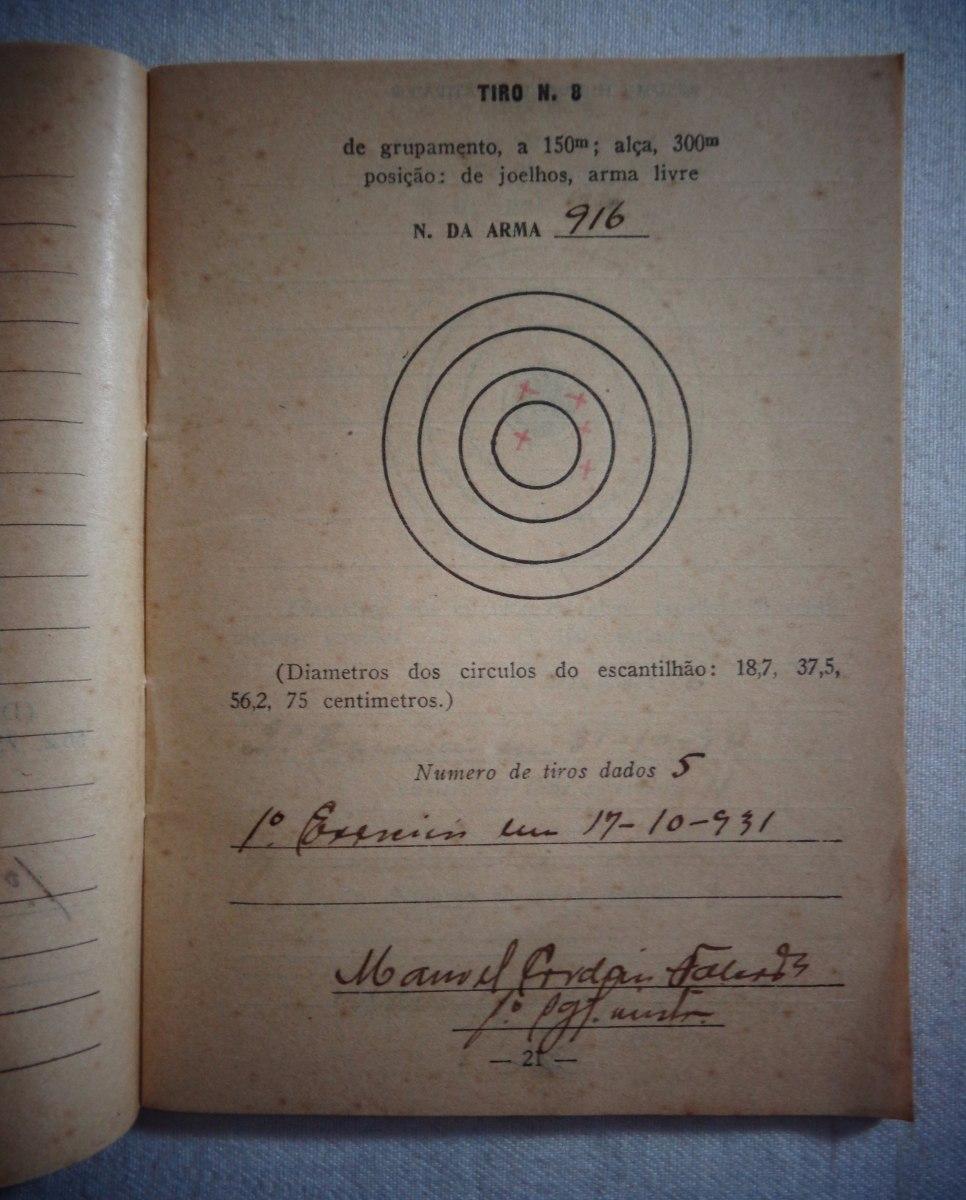 0485f7fbd exército militar caderno instrução de tiro 1931. Carregando zoom.