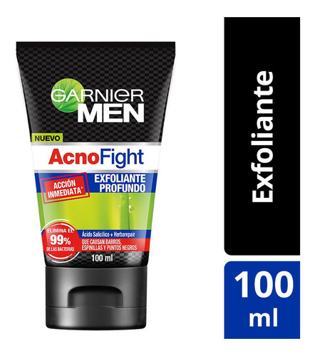 exfoliante anti-acné garnier men acno fight 100ml
