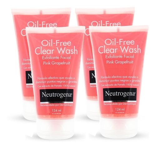 exfoliante facial neutrogena pomelo prevención acné 4 unid