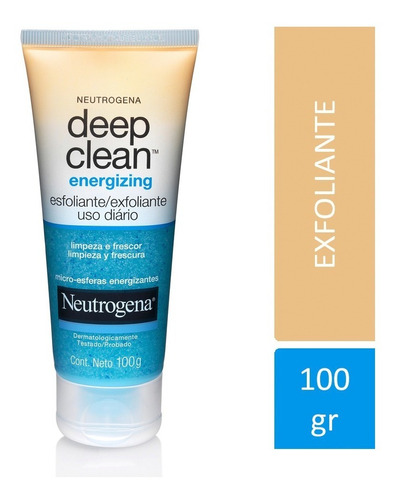 exfoliante neutrogena deep clean energizing  - neutrogena