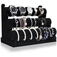 exhibidor barra triple para pulseras, relojes etc joyería