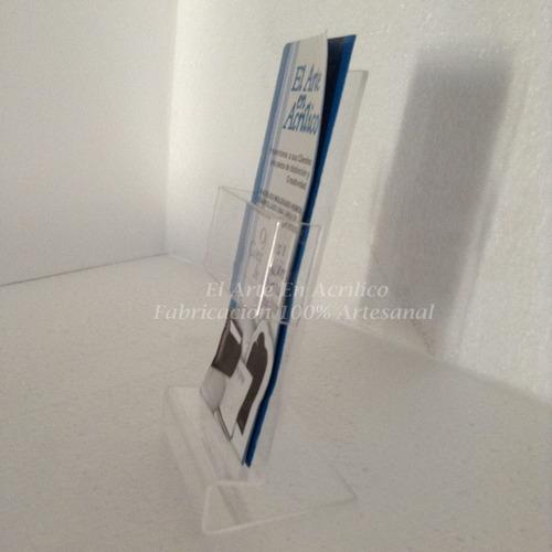 exhibidor de acrilico p/ hojas folletos tripticos flyers