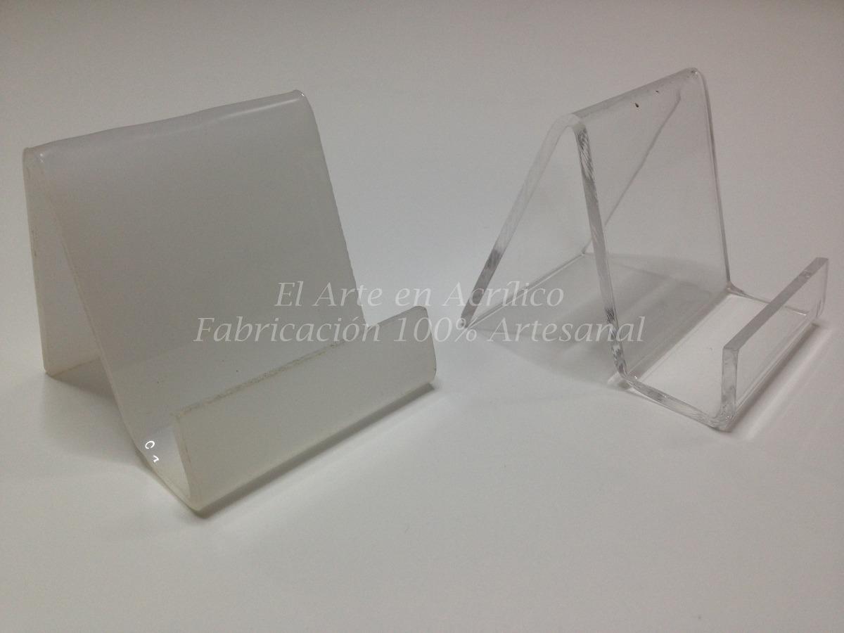 Exhibidor De Acr 237 Lico Para Celulares Paquete De 20 Pzas