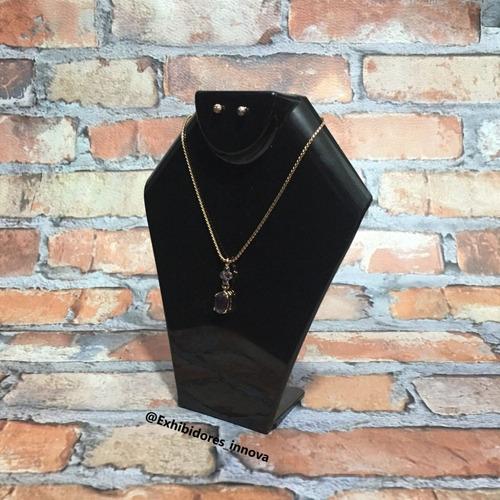 exhibidor de collares y cadenas, base, acrilico 12cm altura