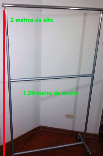 exhibidor de ropa metalico 2 pisos