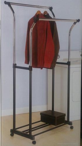 exhibidor de ropa tuberia boutique tienda movible rack