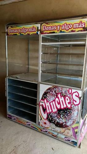 exhibidor donas tortas dulces postres tequeños donut (300v)