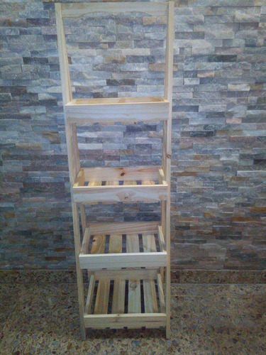 exhibidor escalera biblioteca estanteria de madera pino