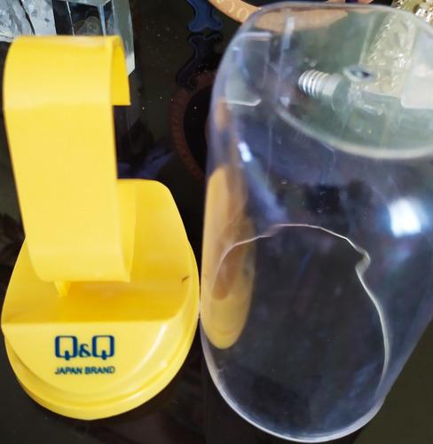 exhibidor estuche caballete de relojería marca q&q acrilico
