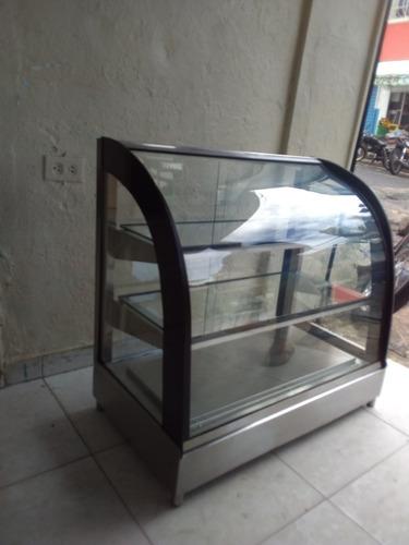 exhibidor o vitrina vidrio curvó
